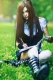 Young schoolgirl Royalty Free Stock Photos
