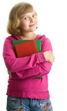 Young schoolgirl with books Royalty Free Stock Photography
