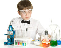 The young scientist Royalty Free Stock Photo