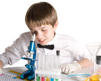 The young scientist royalty free stock images