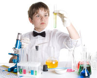 The young scientist royalty free stock photography