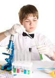 The young scientist stock photos