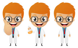 Young scientist cartoon Stock Photography