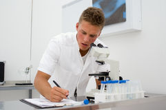 Young scientist collecting data 1 Royalty Free Stock Images