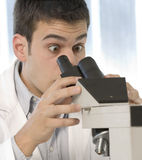 Young scientist discovering something Stock Photo
