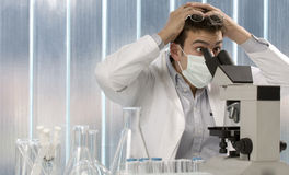 Young scientist discovering something Royalty Free Stock Photography