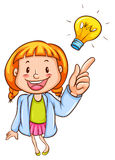 A young scientist. A drawing of a young scientist on a white background vector illustration