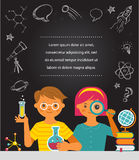 Young scientist - education, research and school Stock Photography
