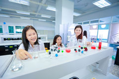 Young Scientist Girl in Laboratory Stock Image