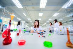 Young Scientist Girl in Laboratory Royalty Free Stock Images