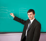 Young scientist giving a lecture Royalty Free Stock Images