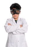 Young Scientist with Goggles Royalty Free Stock Images