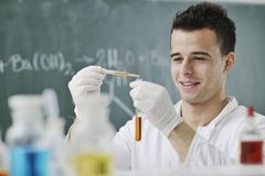 Young Scientist In Lab Stock Photography