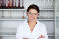 Young scientist posing Royalty Free Stock Photos
