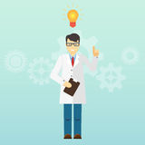 Young scientist professor got an idea. Startup Royalty Free Stock Image