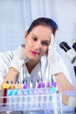 Young scientist woman working at the laboratory Stock Image