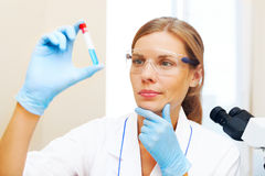 Young scientist working Stock Photos