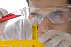 Young scientist working in his laboratory Stock Photo