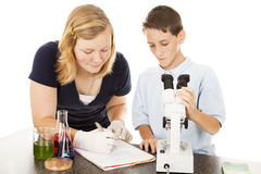 Young Scientists in Lab Royalty Free Stock Images