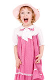 Young screaming girl Stock Image