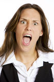 Young screaming girl Royalty Free Stock Photography