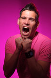 Young screaming man Royalty Free Stock Photography