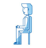 Young seated man avatar character Royalty Free Stock Photos