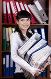 Young secretary Royalty Free Stock Photo