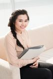 Young secretary Stock Images