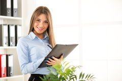 Young Secretary With Folder Royalty Free Stock Photo