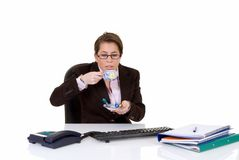 Young secretary, lunch break Stock Photography