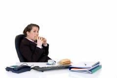 Young secretary, lunch break Royalty Free Stock Photo