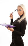 Young secretary during work Stock Image