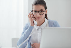 Young secretary at work Royalty Free Stock Images