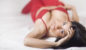 Young seductive girl Stock Photo
