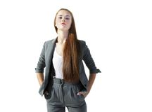 Young self-confident businesswoman Royalty Free Stock Photos