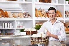The young seller Stock Photos