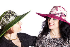 Young And Senior Women With Hat Royalty Free Stock Image