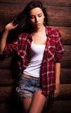Young sensual & beauty woman in casual clothes. Stock Image