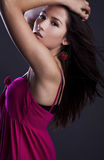 Young sensual & beauty woman in a fashionable dress. Royalty Free Stock Images
