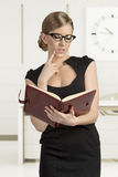 Young sensual blond in business Stock Photo