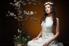 Elegant spring girl Royalty Free Stock Photography