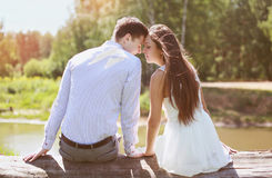 Young sensual couple in love Stock Images