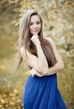Young sensual model girl - outdoor portrait Stock Photos