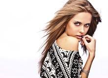 Young sensual model girl pose in studio. Stock Image