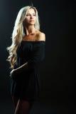 Young sensual model girl pose in studio Royalty Free Stock Photo