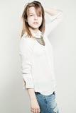 Young Sensual Model Girl Posing. Studio Fashion Stock Photography