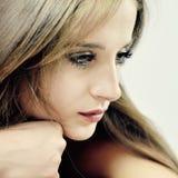 Young sensual pretty girl Stock Photos