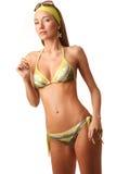 Young sensual woman in bikini Stock Photography