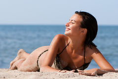 Young and sensual woman enjoying a sunny day Royalty Free Stock Image